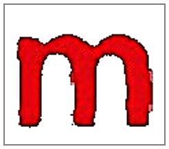 "Close-up ""m"""